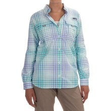 Columbia Sportswear Super Bahama Shirt - UPF 30, Roll-Up Long Sleeve (For Women) in Miami Multi Plaid - Closeouts