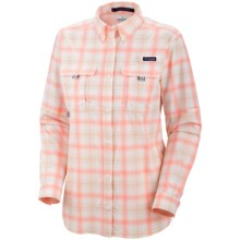 Columbia Sportswear Super Bahama Shirt - UPF 30, Roll-Up Long Sleeve (For Women) in Sorbet Plaid - Closeouts