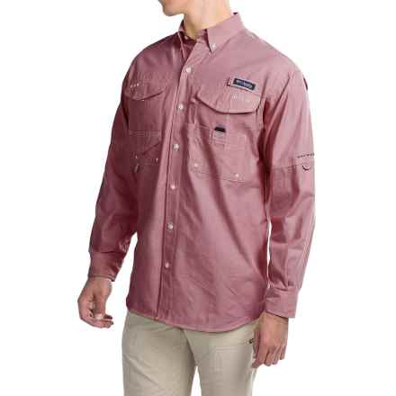 Columbia Sportswear Super Bonehead Classic Shirt - UPF 30, Long Sleeve (For Big and Tall Men) in Beet Oxford - Closeouts