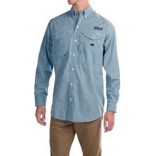 Columbia Sportswear Super Bonehead Classic Shirt - UPF 30, Long Sleeve (For Big and Tall Men) in Blue Heron Gingham - Closeouts