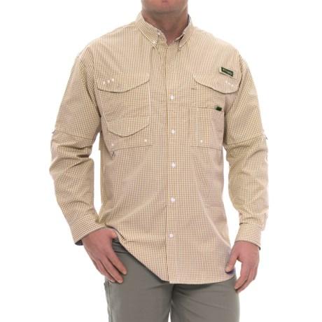 Columbia Sportswear Super Bonehead Classic Shirt - UPF 30, Long Sleeve (For Big and Tall Men) in Dark Banana Gingham