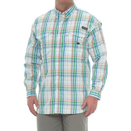 Columbia Sportswear Super Bonehead Classic Shirt - UPF 30, Long Sleeve (For Big and Tall Men) in Harbor Blue Plaid