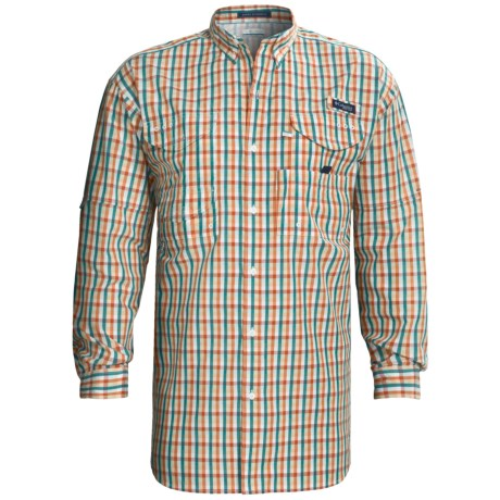 Columbia Sportswear Super Bonehead Classic Shirt - UPF 30, Long Sleeve (For Big and Tall Men) in Sail/Gingham
