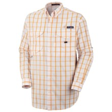 Columbia Sportswear Super Bonehead Classic Shirt - UPF 30, Long Sleeve (For Big and Tall Men) in Marmalade/Large Box - Closeouts