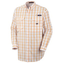 Columbia Sportswear Super Bonehead Classic Shirt - UPF 30, Long Sleeve (For Big and Tall Men) in Collegiate Navy Gingham