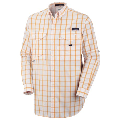 Columbia Sportswear Super Bonehead Classic Shirt - UPF 30, Long Sleeve (For Big and Tall Men) in Marmalade/Large Box