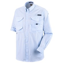 Columbia Sportswear Super Bonehead Classic Shirt - UPF 30, Long Sleeve (For Big and Tall Men) in Sail/Gingham - Closeouts
