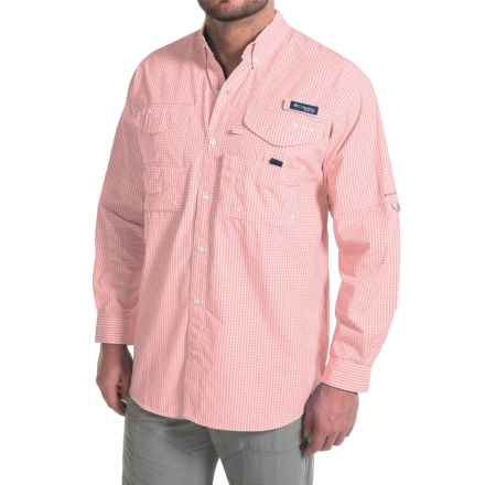 Columbia Sportswear Super Bonehead Classic Shirt - UPF 30, Long Sleeve (For Big and Tall Men) in Sorbet Gingham - Closeouts