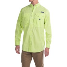 Columbia Sportswear Super Bonehead Classic Shirt - UPF 30, Long Sleeve (For Big and Tall Men) in Tippet Gingham - Closeouts