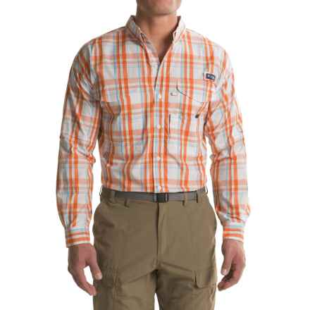 Columbia Sportswear Super Bonehead Classic Shirt - UPF 30, Long Sleeve (For Big and Tall Men) in Valencia Classic Plaid - Closeouts