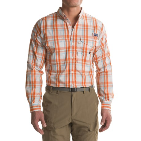 Columbia Sportswear Super Bonehead Classic Shirt - UPF 30, Long Sleeve (For Big and Tall Men) in Valencia Classic Plaid