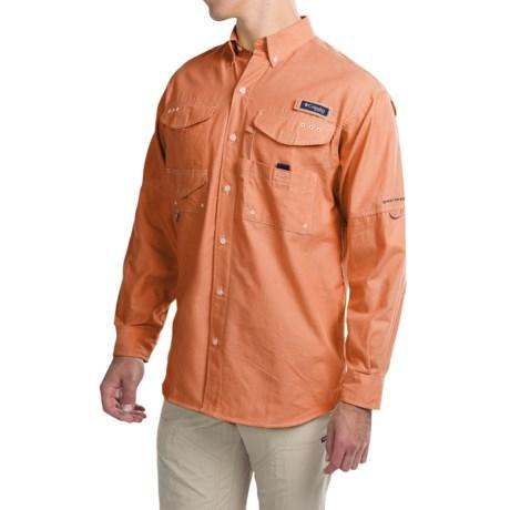 Columbia Sportswear Super Bonehead Classic Shirt - UPF 30, Long Sleeve (For Big and Tall Men) in Valencia Oxford