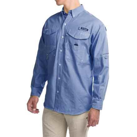 Columbia Sportswear Super Bonehead Classic Shirt - UPF 30, Long Sleeve (For Big and Tall Men) in Vivid Blue Oxford - Closeouts