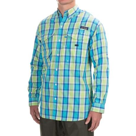 Columbia Sportswear Super Bonehead Classic Shirt - UPF 30, Long Sleeve (For Men) in Bounty Blue Plaid