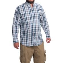 Columbia Sportswear Super Bonehead Classic Shirt - UPF 30, Long Sleeve (For Men) in Collegiate Navy Multi Plaid - Closeouts