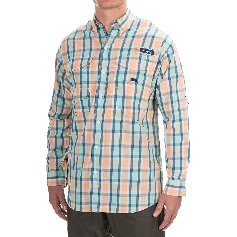 Review of the columbia men pfg bonehead long sleeve shirt for Cabela s columbia shirts
