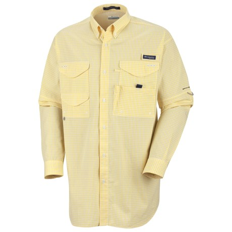 Columbia Sportswear Super Bonehead Classic Shirt - UPF 30, Long Sleeve (For Men) in Lemon Whip/Gingham