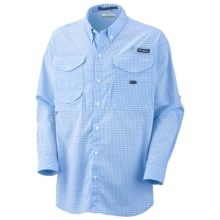 Columbia Sportswear Super Bonehead Classic Shirt - UPF 30, Long Sleeve (For Men) in Sail/Gingham - Closeouts