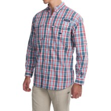 Columbia Sportswear Super Bonehead Classic Shirt - UPF 30, Long Sleeve (For Men) in Sunset Red Plaid - Closeouts