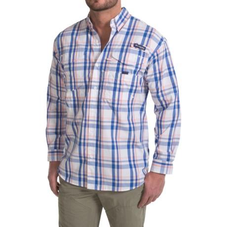 Columbia Sportswear Super Bonehead Classic Shirt - UPF 30, Long Sleeve (For Men) in Vivid Blue Classic Plaid