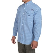 Columbia Sportswear Super Bonehead Classic Shirt - UPF 30, Long Sleeve (For Men) in Vivid Blue/Gingham - Closeouts