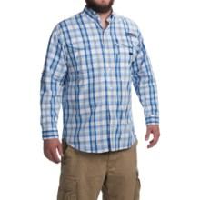 Columbia Sportswear Super Bonehead Classic Shirt - UPF 30, Long Sleeve (For Men) in Vivid Blue Multi Plaid - Closeouts