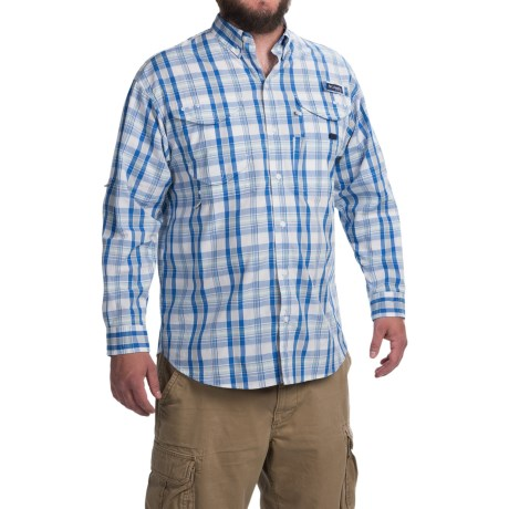 Columbia Sportswear Super Bonehead Classic Shirt - UPF 30, Long Sleeve (For Men) in Vivid Blue Multi Plaid