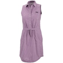 Columbia Sportswear Super Bonehead Dress - UPF 30, Cotton, Sleeveless (For Women) in Berry Jam Gingham - Closeouts