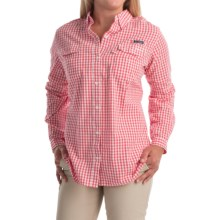 Columbia Sportswear Super Bonehead II Shirt - Button Front, Long Sleeve (For Plus Size Women) in Bright Geranium Gingham - Closeouts