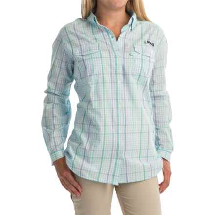Columbia Sportswear Super Bonehead II Shirt - Button Front, Long Sleeve (For Plus Size Women) in Miami Plaid - Closeouts