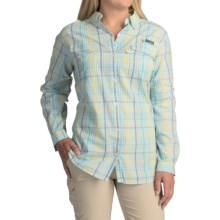 Columbia Sportswear Super Bonehead II Shirt - Button Front, Long Sleeve (For Plus Size Women) in Stormy Blue Plaid - Closeouts