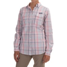 Columbia Sportswear Super Bonehead II Shirt - Long Sleeve (For Women) in Bright Geranium Plaid - Closeouts