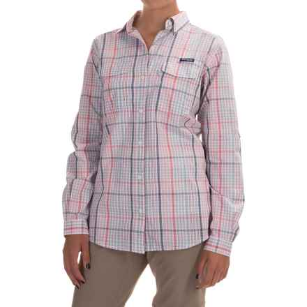 Columbia Sportswear Super Bonehead II Shirt - Long Sleeve (For Women) in Bright Geranium Plaid - Closeouts