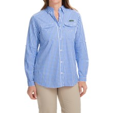 Columbia Sportswear Super Bonehead II Shirt - Long Sleeve (For Women) in Harbor Blue Gingham - Closeouts