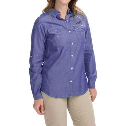 Columbia Sportswear Super Bonehead II Shirt - Long Sleeve (For Women) in Light Grape Oxford - Closeouts
