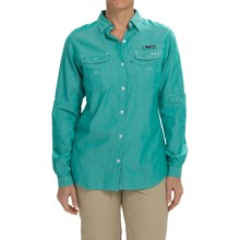 Columbia Sportswear Super Bonehead II Shirt - Long Sleeve (For Women) in Mayan Green Oxford - Closeouts