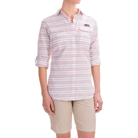 Columbia Sportswear Super Bonehead II Shirt - Long Sleeve (For Women) in Purple Dahlia Stripe