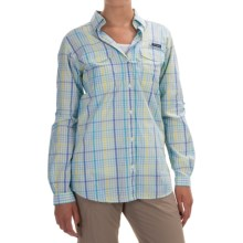 Columbia Sportswear Super Bonehead II Shirt - Long Sleeve (For Women) in Stormy Blue Plaid - Closeouts