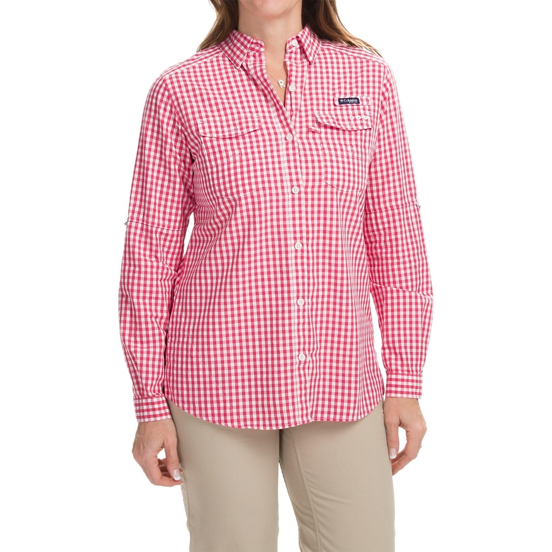 Columbia sportswear super bonehead ii shirt for women for Pink gingham shirt ladies