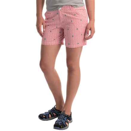 Columbia Sportswear Super Bonehead II Shorts - UPF 30 (For Women) in Bright Geranium Sailboats - Closeouts