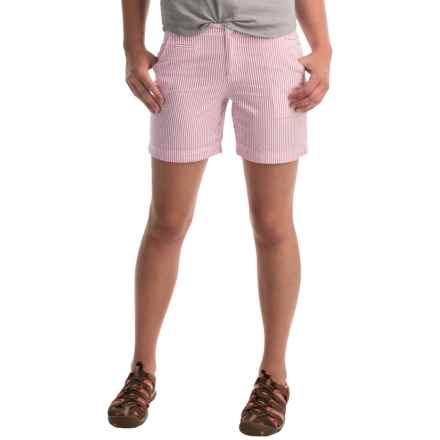 Columbia Sportswear Super Bonehead II Shorts - UPF 30 (For Women) in Haute Pink Seersucker - Closeouts