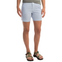Columbia Sportswear Super Bonehead II Shorts - UPF 30 (For Women) in Stormy Blue Seersucker - Closeouts
