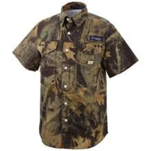 Columbia Sportswear Super Bonehead Shirt - UPF 30, Short Sleeve (For Youth Boys) in Timberwolf - Closeouts