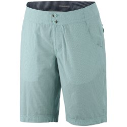 Columbia Sportswear Super Bonehead Shorts - UPF 30, Cotton Twill (For Women) in Red Hibiscus Stripe