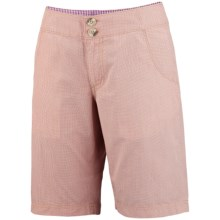 Columbia Sportswear Super Bonehead Shorts - UPF 30, Cotton Twill (For Women) in Marmalade/Mini Yd - Closeouts