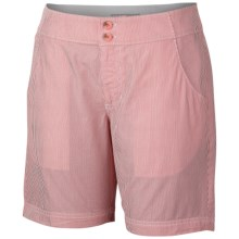 Columbia Sportswear Super Bonehead Shorts - UPF 30, Cotton Twill (For Women) in Red Hibiscus Stripe - Closeouts