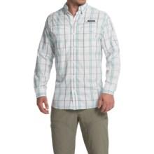 Columbia Sportswear Super Low Drag Shirt - Omni-Wick®, UPF 40, Long Sleeve (For Men) in Gulf Stream Plaid - Closeouts