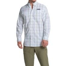 Columbia Sportswear Super Low Drag Shirt - Omni-Wick®, UPF 40, Long Sleeve (For Men) in Key West Plaid - Closeouts