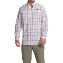 Columbia Sportswear Super Low Drag Shirt - Omni-Wick®, UPF 40, Long Sleeve (For Men) in Sunset Red Plaid - Closeouts