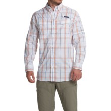 Columbia Sportswear Super Low Drag Shirt - Omni-Wick®, UPF 40, Long Sleeve (For Men) in Vivid Blue Plaid - Closeouts